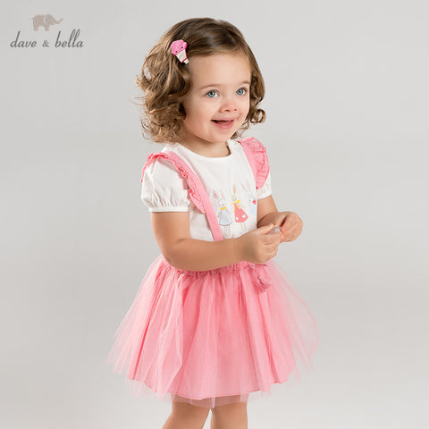 Spring Baby Girl Suspender Dress - tiny-tots-eco