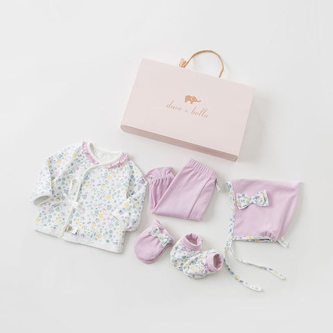 Autumn Floral Cotton Baby Girl Clothing Set - tiny-tots-eco