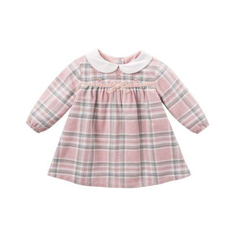 Autumn Plaid Dress for Girls - tiny-tots-eco