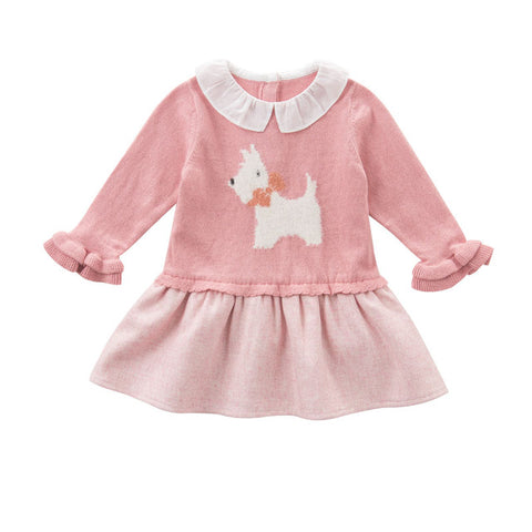 Autumn Princess Baby Girl Knitted Dress - tiny-tots-eco