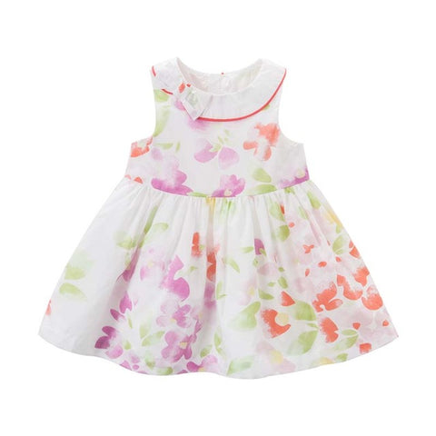 Floral Sleeveless Summer Dress for Girls - tiny-tots-eco