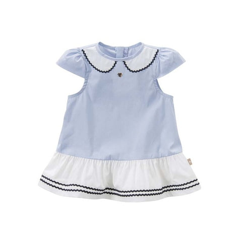 Baby Girl Short Sleeve Collared Dress - tiny-tots-eco