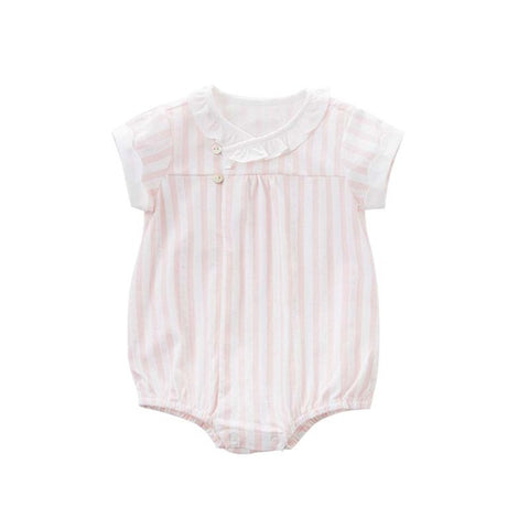 Summer Baby Girls Cotton Romper - tiny-tots-eco
