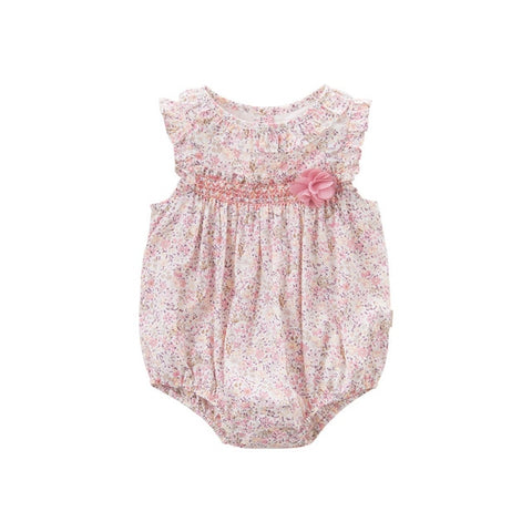 Summer Floral Romper for Baby Girls - tiny-tots-eco