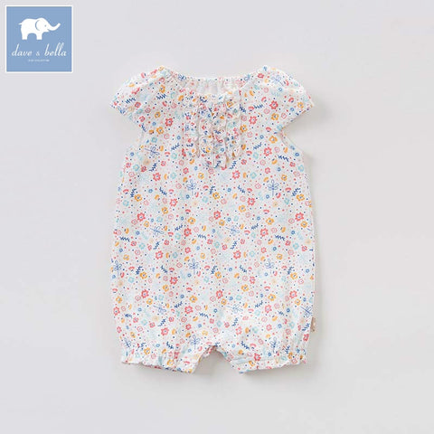 Baby Girl Summer Floral Romper - tiny-tots-eco