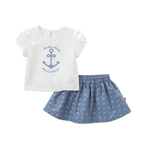 Summer Sailor Top + Skirt Outfit - tiny-tots-eco