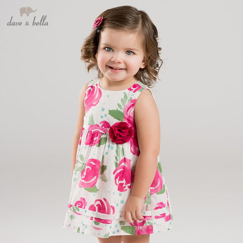 Summer Floral Sleeveless Dress - tiny-tots-eco