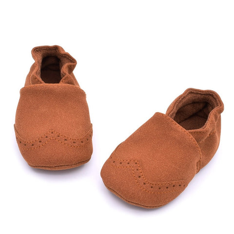 Suede Leather Baby Shoes - tiny-tots-eco