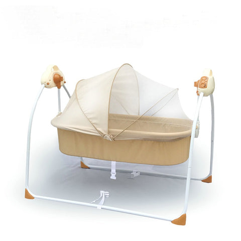 Electric Rocking Cradle Baby Cot - tiny-tots-eco
