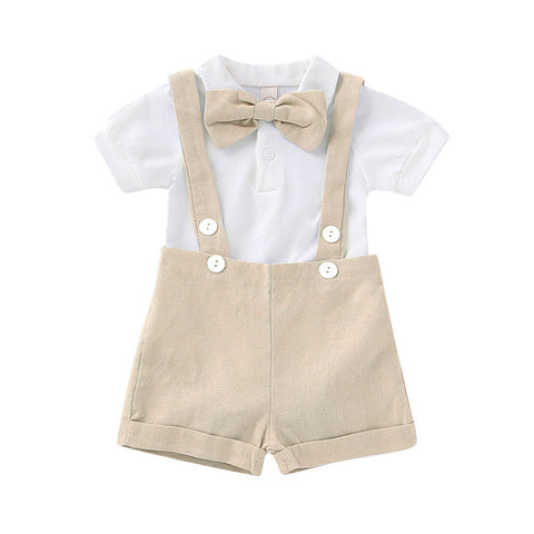 Gentleman Suspenders Strap Outfit Set - tiny-tots-eco