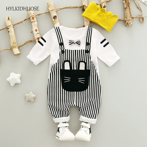 Autumn Striped Cute Outfit For Boy Or Girl - tiny-tots-eco
