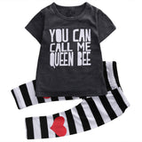 Cute Baby Girl T-Shirt + Long Pants Outfit - tiny-tots-eco