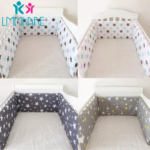 U-Shaped Zipper Cotton Baby Crib Bumper - tiny-tots-eco