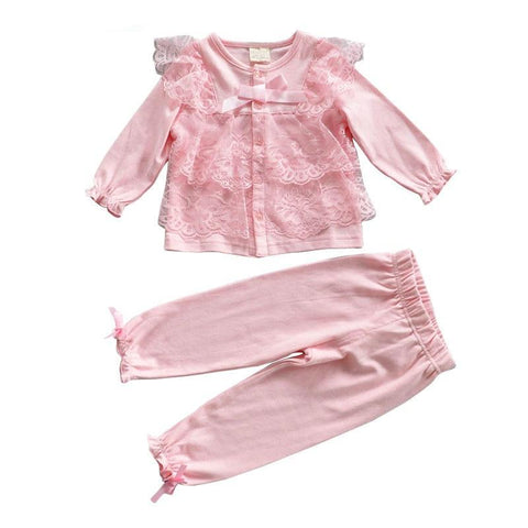 Casual Long-Sleeve Set For Baby Girls - tiny-tots-eco