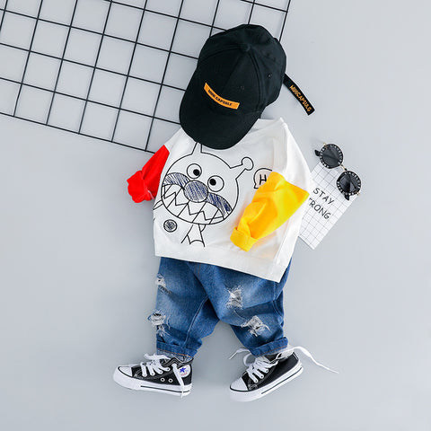 2pcs Casual Tracksuit For Baby Boys - tiny-tots-eco