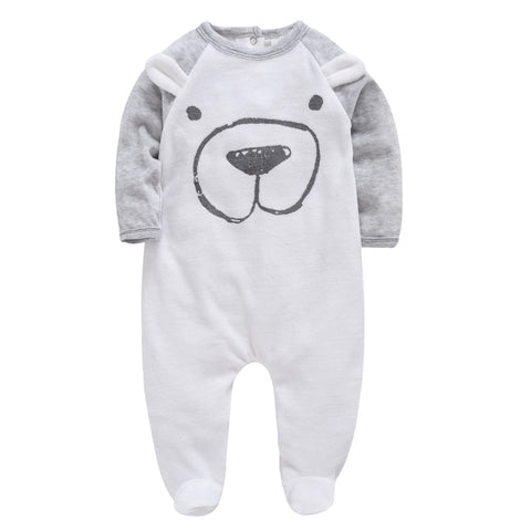 Winter Cartoon Cotton Baby Romper - tiny-tots-eco