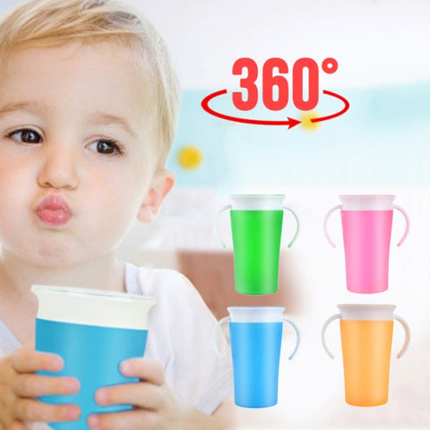 Plastic Drink Training Cup 360 Degree Anti-Spill - tiny-tots-eco