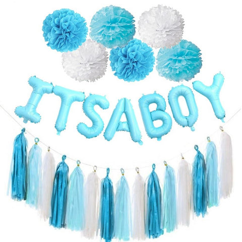 Baby Shower/ Gender Reveal Party Decorations for Boys - tiny-tots-eco