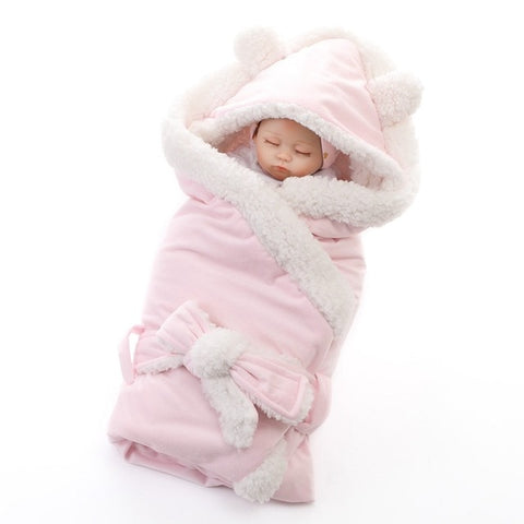 Winter Baby Fleece Swaddle Blanket - tiny-tots-eco