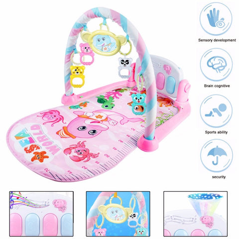 Cute Gym Carpet With Piano Keyboard For Babies - tiny-tots-eco