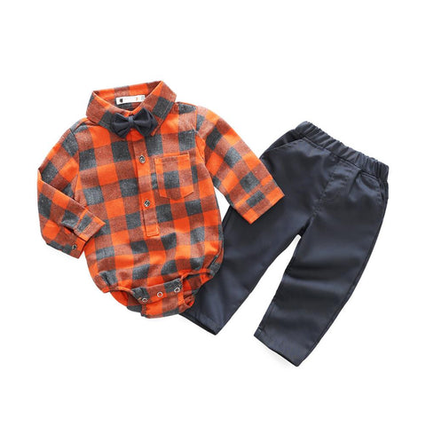Shirt+Pant Two Pieces Set For Baby Boys - tiny-tots-eco