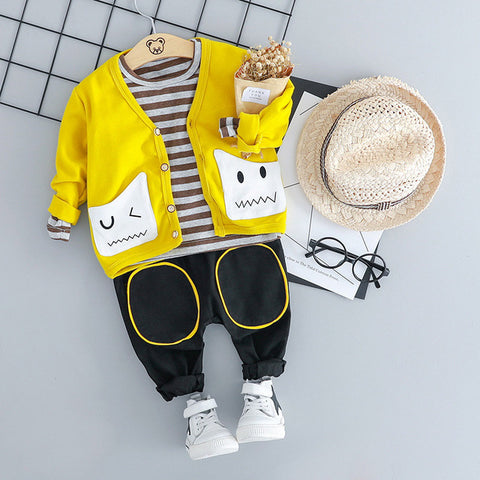 Classic 3Pcs. Outfit For Baby Boys - tiny-tots-eco