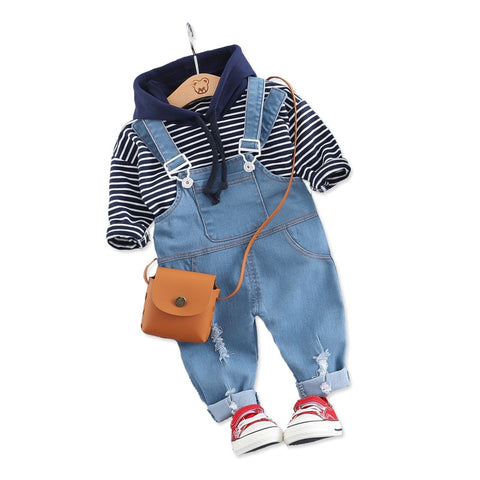 Hooded Denim Outfit For Baby Boy - tiny-tots-eco