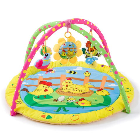 Colorful Gym Activity Mat For Babies Animal Themed - tiny-tots-eco