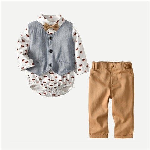 Little Gentlemen 3 Piece Outfit - tiny-tots-eco