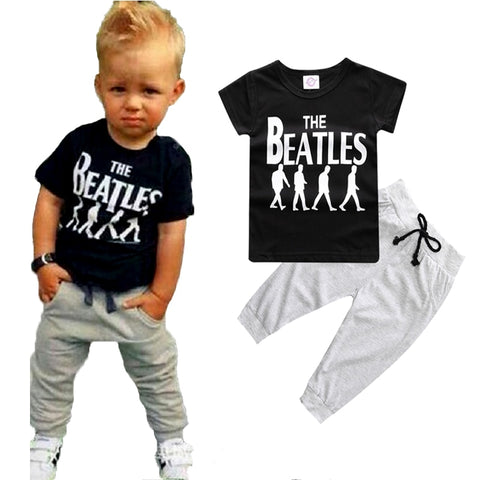 Cool T-shirt+Pants Sport Set For Baby Boys - tiny-tots-eco