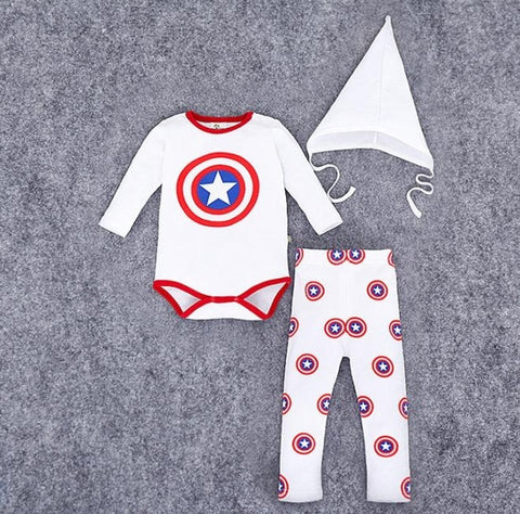 3 Piece Superhero Themed Baby Set - tiny-tots-eco