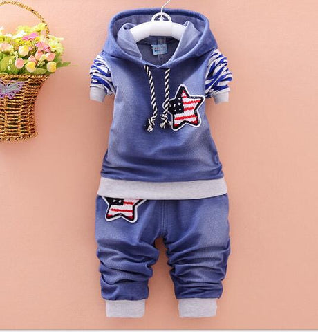 Cute Thick Hoodie and Pant Set For Boys - tiny-tots-eco