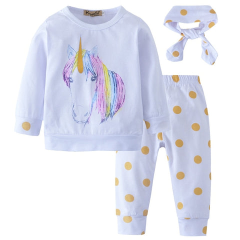 Cute Unicorn 3 piece Outfit - tiny-tots-eco