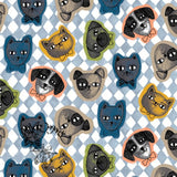 Cats and Dogs Face Covering Light Blue