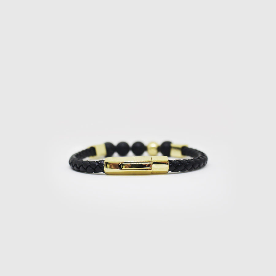 The Geometric Leather Bracelet