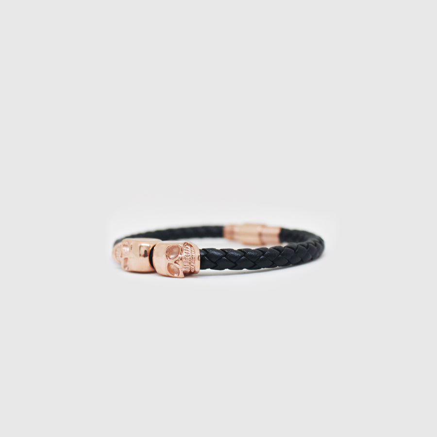 The Rose Gold Magnetic Skull Bracelet