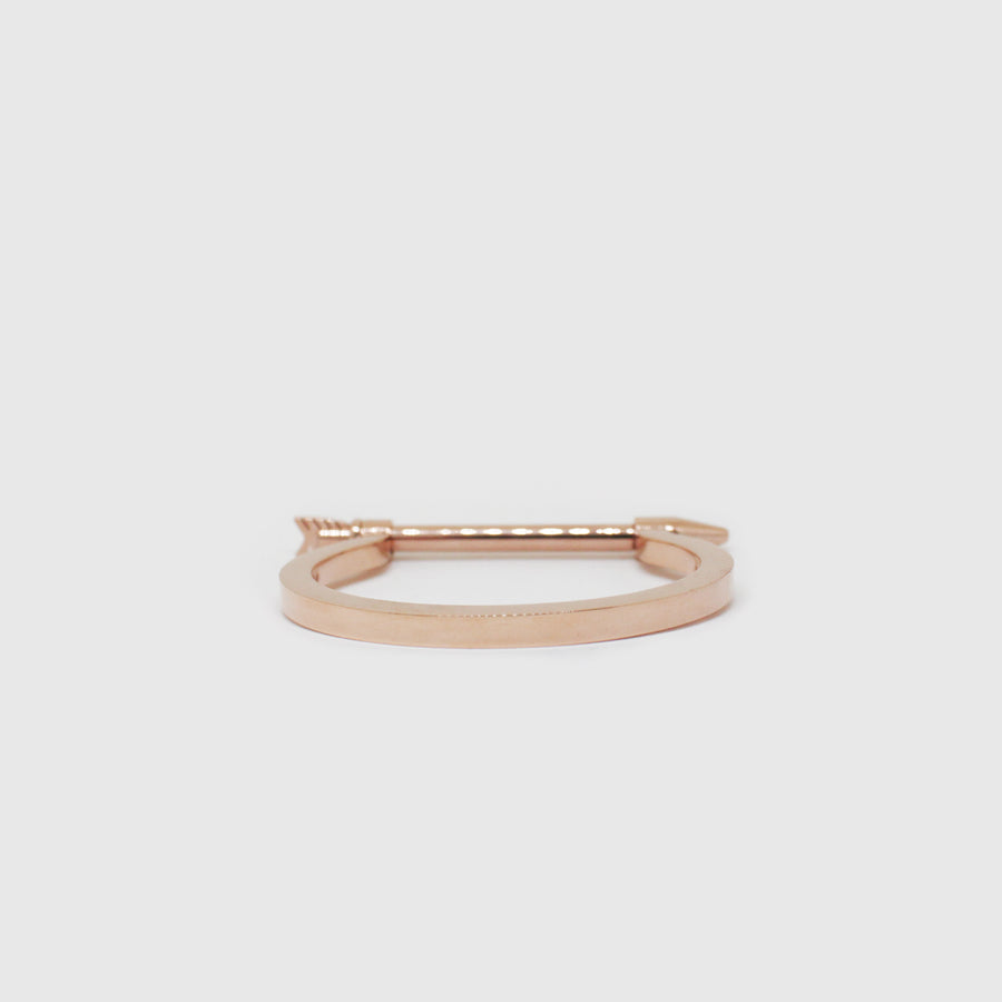 The Rose Gold Arrow Screw Bangle