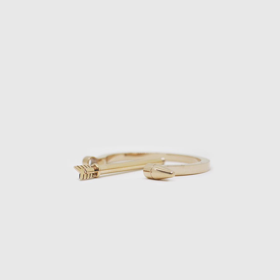 The Gold Arrow Screw Bangle