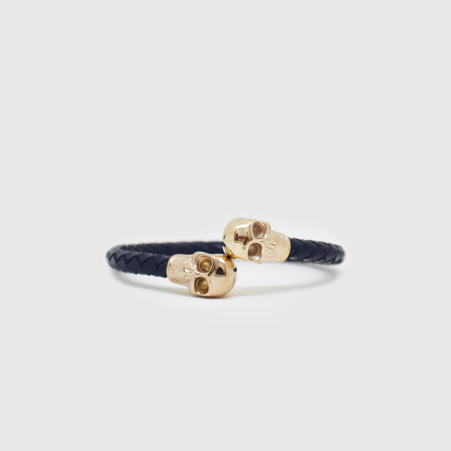 The Gold Twisted Skull Bracelet