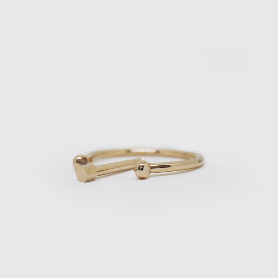 The Rose Gold Screw Bangle