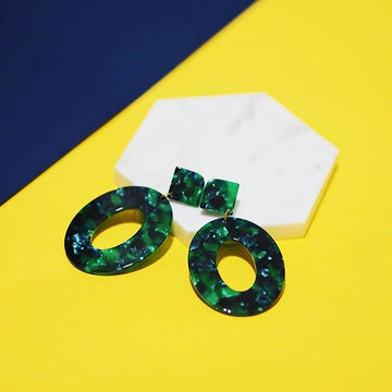 The Green Lady Hoop Earrings