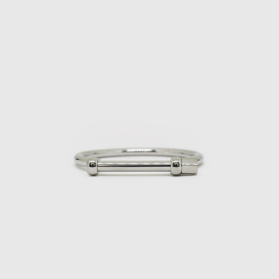 The Silver Screw Bangle