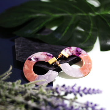 The Grapes Tri-colour Hoop Earrings