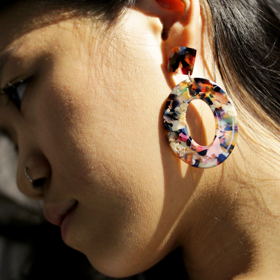 The Colourful Lady Hoop Earrings