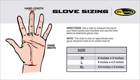Gloves Sizing Chart
