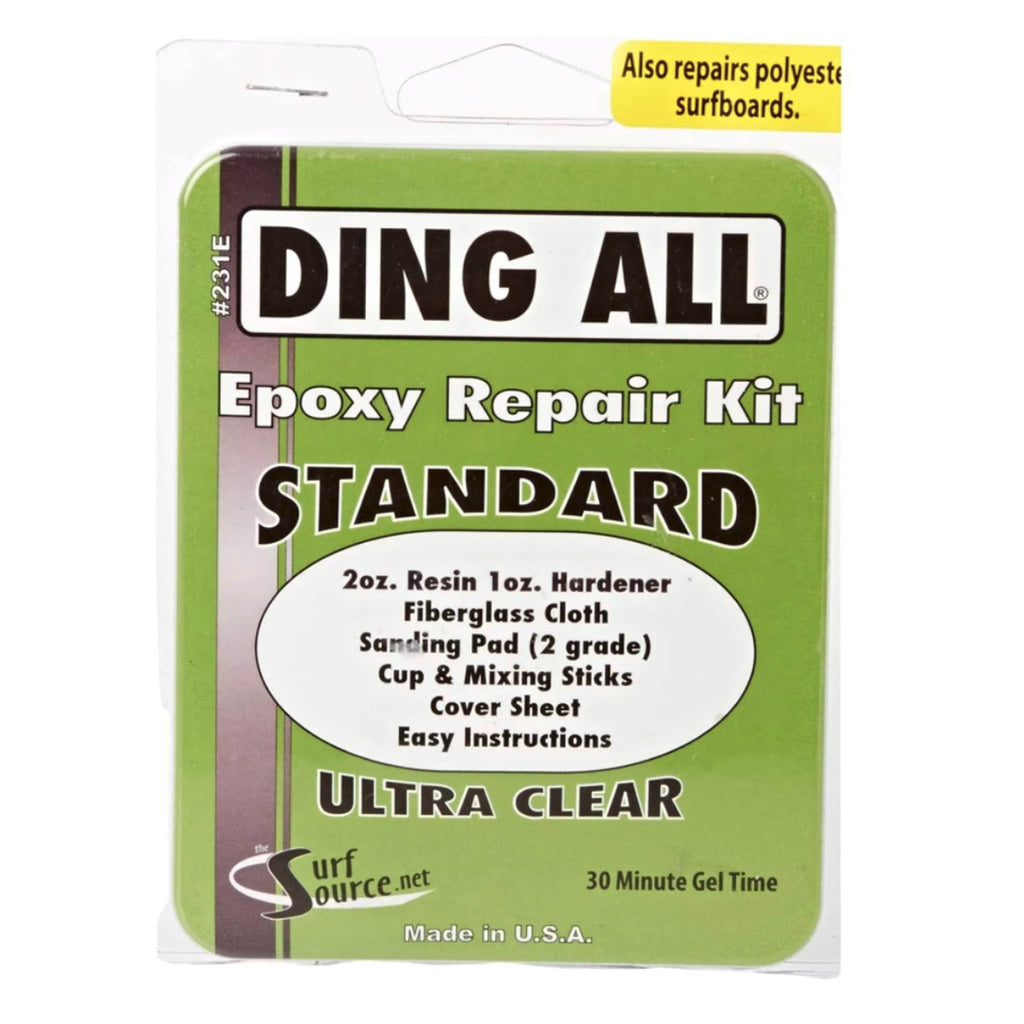 Ding All 2 Oz Epoxy Repair Kit For Small to Medium Sized Epoxy Surfboard (Poly Safe)
