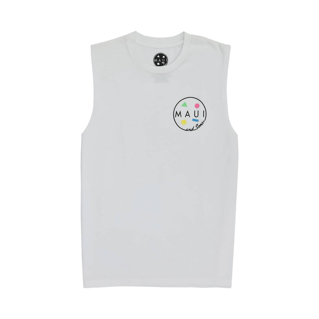 M&S LOGO MUSCLE TEE (White)