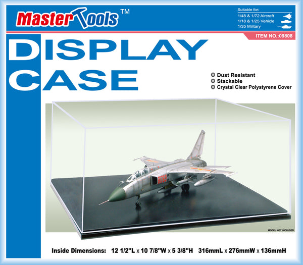 09808 - Master Tools Model Display Case - Aircraft and Vehicles