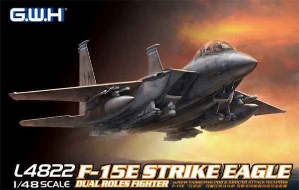 "GW4822 - GWH 1/48 US McDonnell Douglas F-15E ""Strike Eagle"" Dual Roles Fighter"