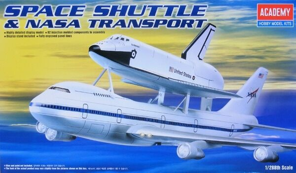 ACA12708 - Academy Space Shuttle & 747 Transport 1/288